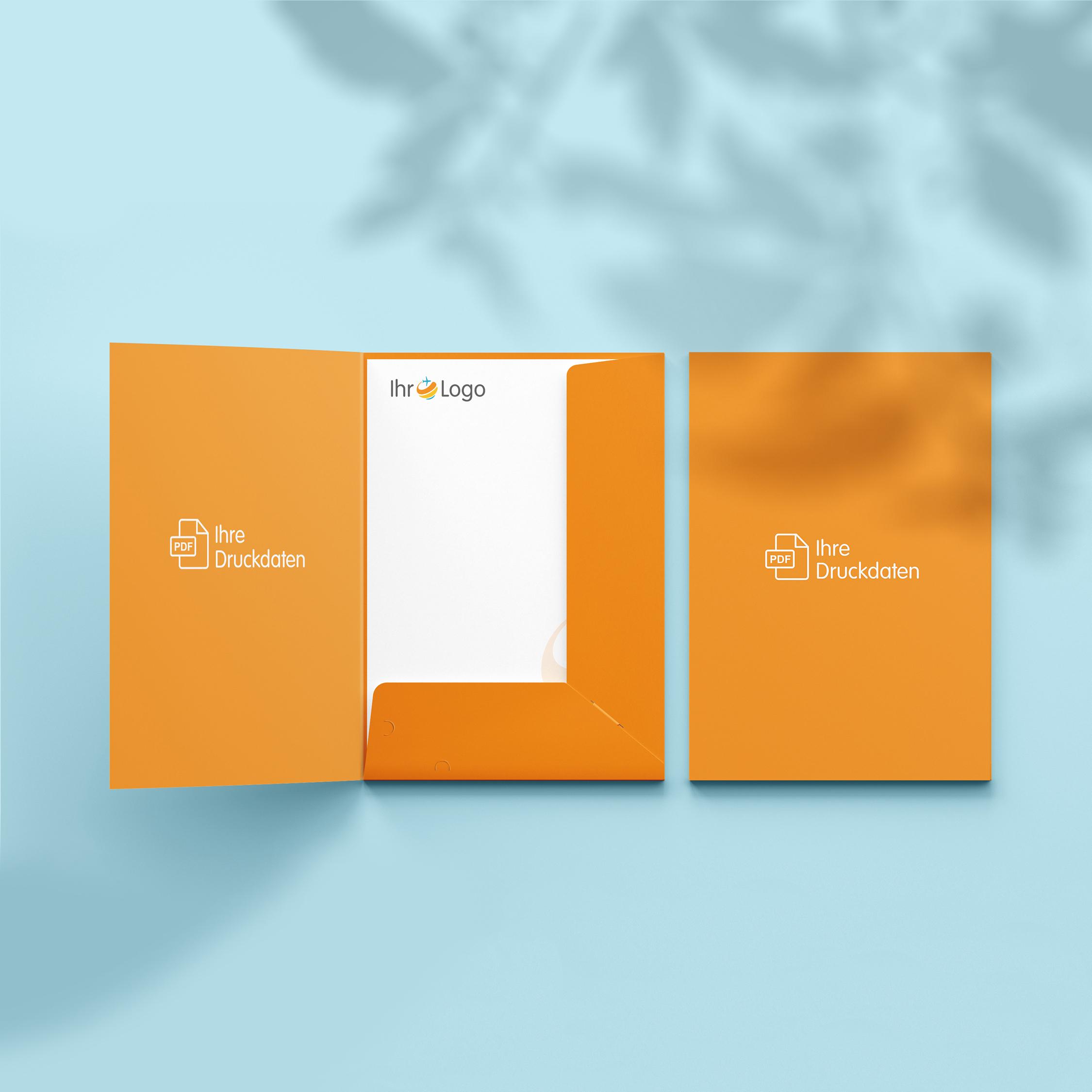 Präsentationsmappen - Design Orange