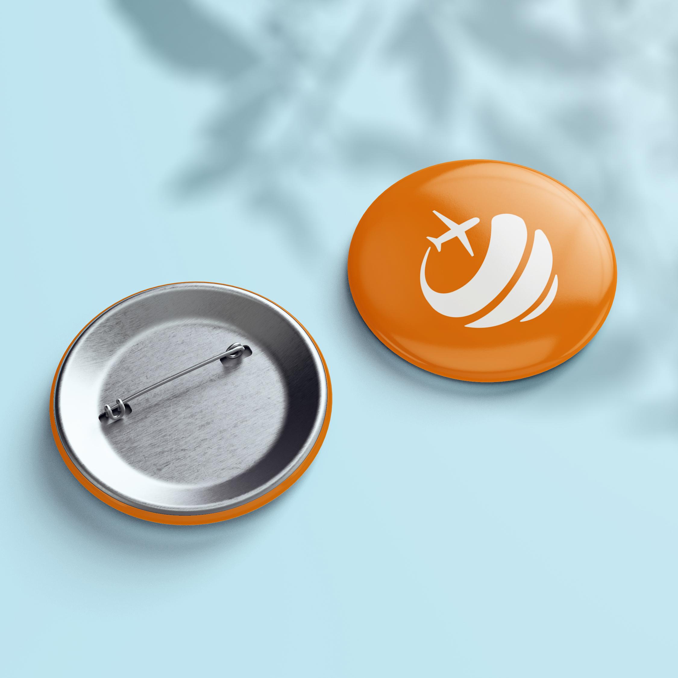Button - Design Orange