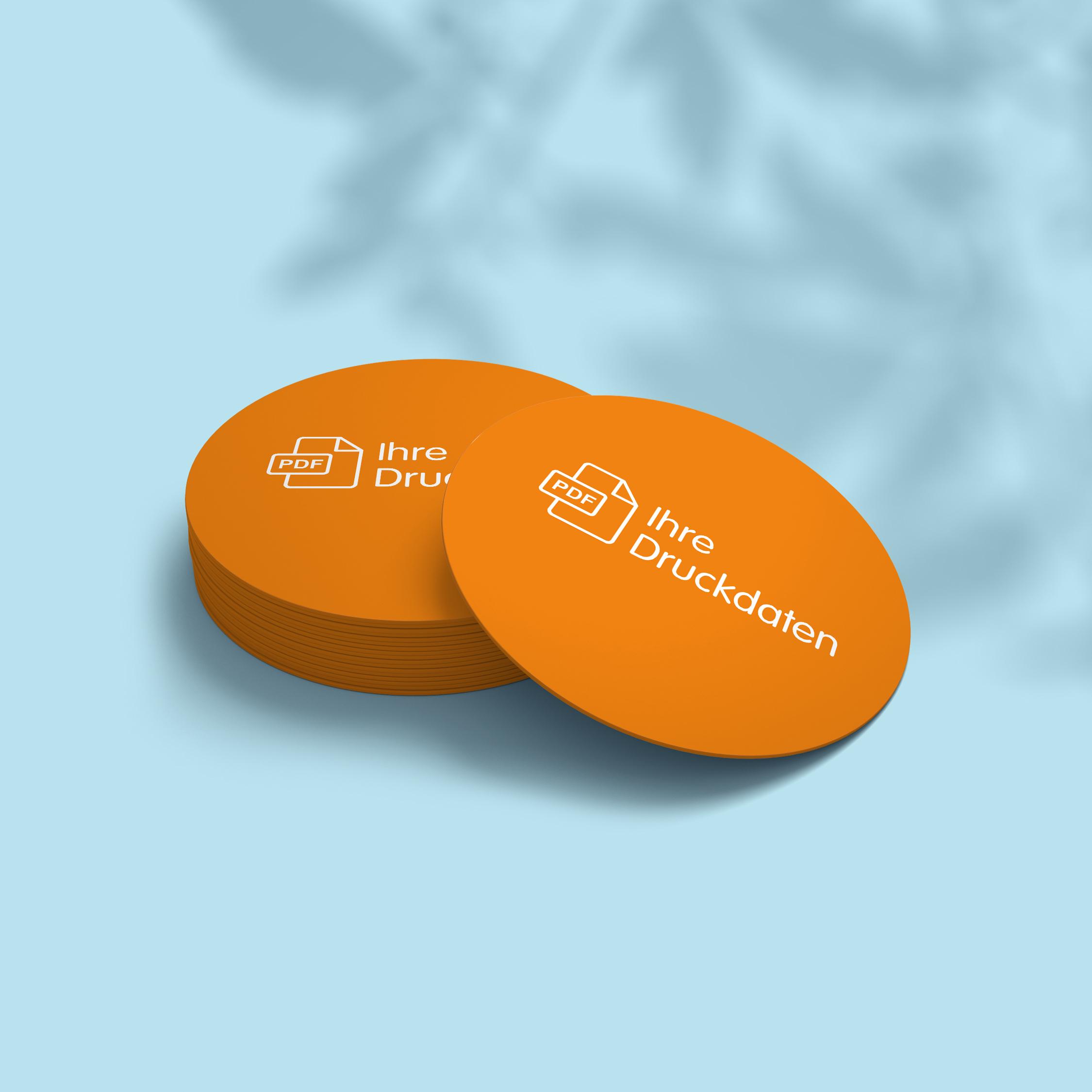 Bierdeckel (rund) - Design Orange