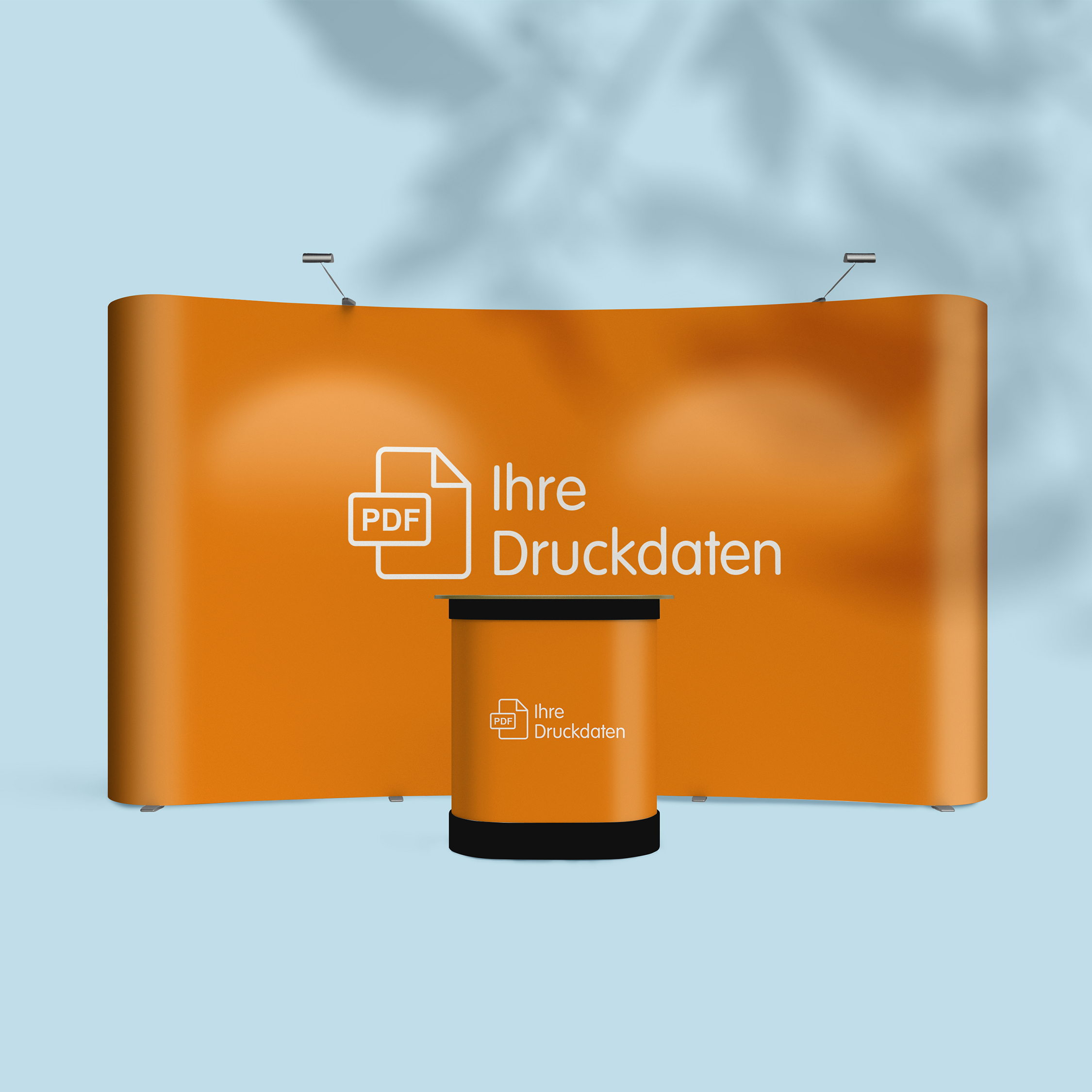 Display inkl. Theke - Design Orange